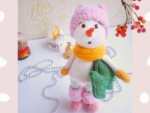 Вяжем игрушку «Снеговик 2019». Ярмарка Мастеров - ручная работа, handmade.