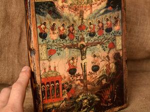 Видео с иконой  «Древо страстей Христовых». Ярмарка Мастеров - ручная работа, handmade.