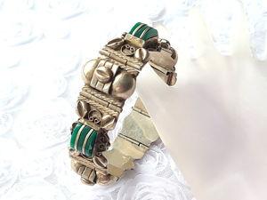 Видео. Антикварный мексиканский браслет,серебро. Ярмарка Мастеров - ручная работа, handmade.