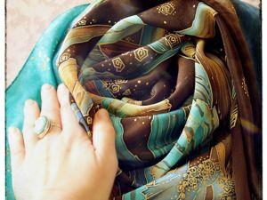 Платок  «Цвета Земли и Неба». Ярмарка Мастеров - ручная работа, handmade.