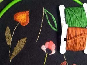 Вышивка гладью для начинающих (занятие 2). Ярмарка Мастеров - ручная работа, handmade.