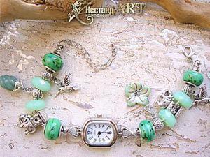 Делаем браслет-часы в тропическом стиле на основе Пандора. Ярмарка Мастеров - ручная работа, handmade.