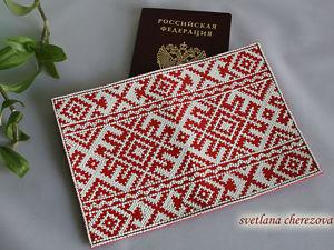 Обложка для паспорта «Русский стиль». Ярмарка Мастеров - ручная работа, handmade.