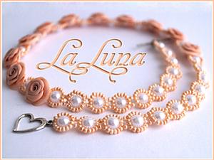 Плетение La Luna: оплетаем бусины бисером. Ярмарка Мастеров - ручная работа, handmade.