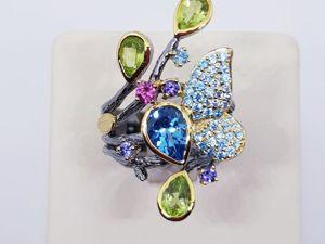 Видео кольца  «Магия весны». Ярмарка Мастеров - ручная работа, handmade.