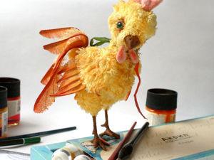 «Петушок и краски»: раскрашиваем плюшевого тедди-петушка. Ярмарка Мастеров - ручная работа, handmade.