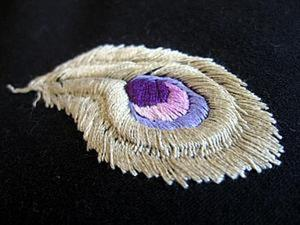 Вышивка гладью с перехватом по шнуру. Ярмарка Мастеров - ручная работа, handmade.