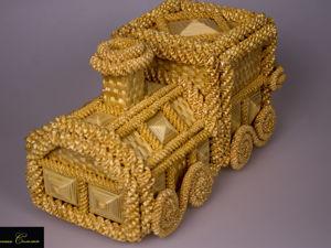 Шкатулка-бар  « Паровоз ». Ярмарка Мастеров - ручная работа, handmade.