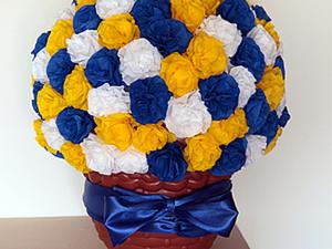 Цветочный беспредел, или Тяжело ли скрутить 126 роз (или гвоздик?) из гофрированной бумаги. Ярмарка Мастеров - ручная работа, handmade.