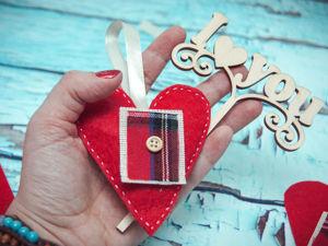 Шьем из фетра минималистичное сердечко. Ярмарка Мастеров - ручная работа, handmade.