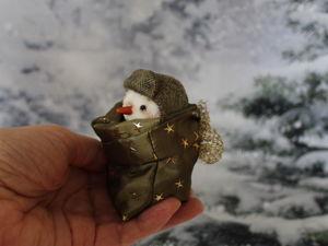 Снеговик. Ярмарка Мастеров - ручная работа, handmade.