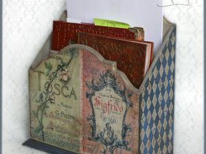 Создаем подставку для бумаг Richard Wagner. Ярмарка Мастеров - ручная работа, handmade.