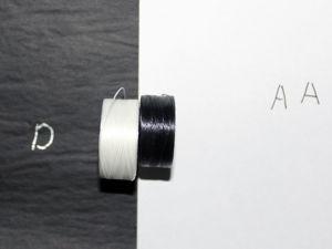 Нить для бисера S-LON. Отличие размеров AA от D. Ярмарка Мастеров - ручная работа, handmade.