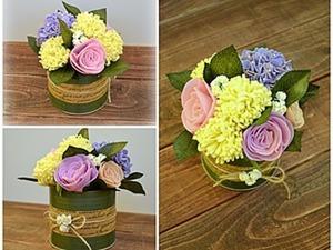 Создаем очаровательный букет цветов из фетра. Ярмарка Мастеров - ручная работа, handmade.