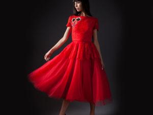 Опиум Алое платье для незабываемого вечера. Ярмарка Мастеров - ручная работа, handmade.