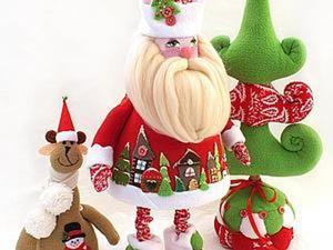 Шьем Деда Мороза из флиса. Ярмарка Мастеров - ручная работа, handmade.