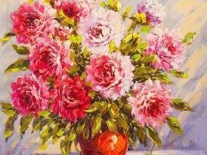 Скидки! На все картины с цветами!. Ярмарка Мастеров - ручная работа, handmade.