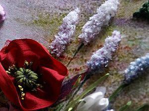 Способ вышивки пушистых цветов. Ярмарка Мастеров - ручная работа, handmade.