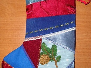 Шьем новогодний сапожок. Ярмарка Мастеров - ручная работа, handmade.