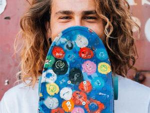 Wasteboards — скейтборды из пластиковых крышек. Ярмарка Мастеров - ручная работа, handmade.