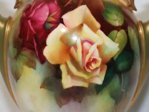 Старинная ваза,  «Royal Worcester» , худ. H. Martin, Англия, 1904 год. Ярмарка Мастеров - ручная работа, handmade.