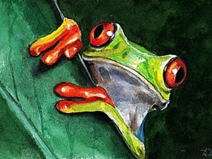Процесс рисования. Лягушка. Ярмарка Мастеров - ручная работа, handmade.