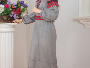 Платье Льняное Чалдоны 01. Ярмарка Мастеров - ручная работа, handmade.