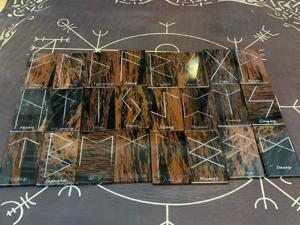 Руны из обсидиана. Ярмарка Мастеров - ручная работа, handmade.
