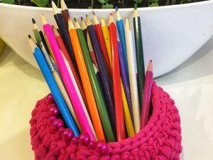 Лайфхак: что делать если кончилась пряжа при вязании корзинки. Ярмарка Мастеров - ручная работа, handmade.