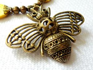Бохо комплект  «Пчелы». Ярмарка Мастеров - ручная работа, handmade.