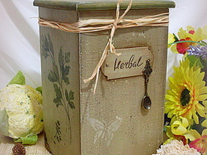 "Короб для сыпучих ""Herbal"". Мастер-класс от ""Base of Art"".. Ярмарка Мастеров - ручная работа, handmade."