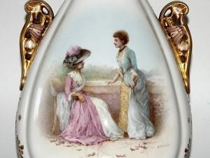 Элегантная ваза от мануфактуры  «Copeland» , Англия, около 1880 года. Ярмарка Мастеров - ручная работа, handmade.