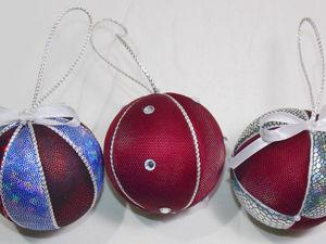 Новогодние шары из пенопласта: видео мастер-класс. Ярмарка Мастеров - ручная работа, handmade.