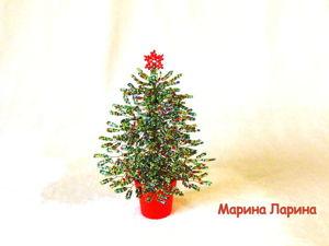 Мастерим новогоднюю елочку из бисера. Ярмарка Мастеров - ручная работа, handmade.