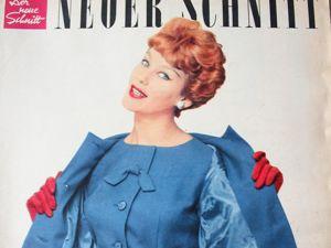 Neuer Schnitt — журнал мод 10/1958. Ярмарка Мастеров - ручная работа, handmade.