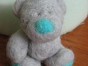 Валяем симпатичного медвежонка. Ярмарка Мастеров - ручная работа, handmade.