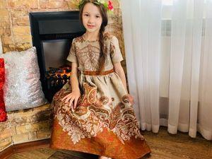 Детские платья из льна. Ярмарка Мастеров - ручная работа, handmade.