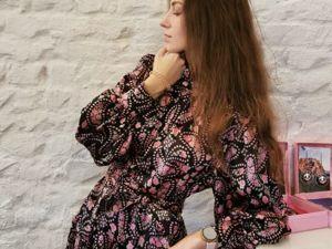 Шелковая легкость в платье. Ярмарка Мастеров - ручная работа, handmade.