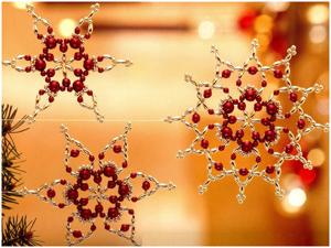 8 идей новогодних украшений из бисера. Ярмарка Мастеров - ручная работа, handmade.