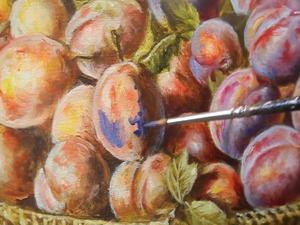 Как добиться «сливового» цвета, не смешивая краски на палитре. Ярмарка Мастеров - ручная работа, handmade.