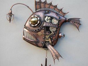 Механический светильник  « Рыба удильщик». Ярмарка Мастеров - ручная работа, handmade.