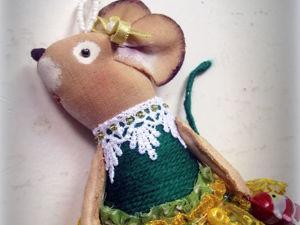 Елочная мышка в зеленом). Ярмарка Мастеров - ручная работа, handmade.