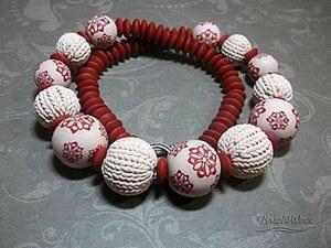 Вяжем из полимерной глины: секрет круглых бусин. Ярмарка Мастеров - ручная работа, handmade.