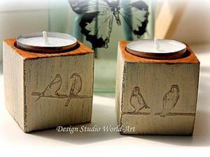 Мастер-класс по изготовлению стильных подсвечников в стиле шебби шик. Ярмарка Мастеров - ручная работа, handmade.
