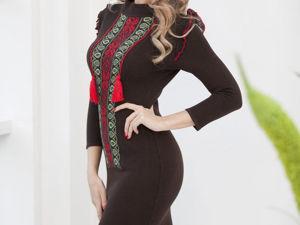 Аукцион на Вязаное платье в славянском стиле! Старт 2500 р.!. Ярмарка Мастеров - ручная работа, handmade.