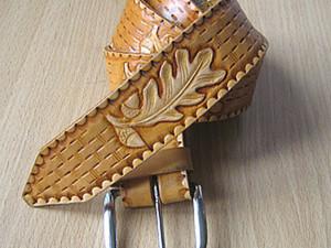 Как сделать художественное тиснение кожи. Ярмарка Мастеров - ручная работа, handmade.