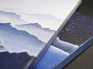 """Как сделать интерьерную картину """"Горы"""" за час. Ярмарка Мастеров - ручная работа, handmade."""