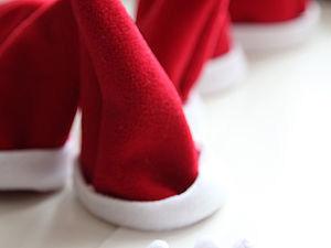 Шапка Санта Клауса для тильда-зайки. Ярмарка Мастеров - ручная работа, handmade.