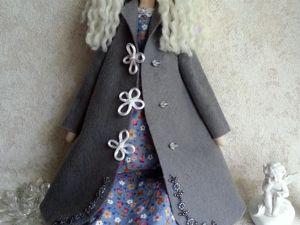 Тильда Осенний Ангел в пальто. Ярмарка Мастеров - ручная работа, handmade.