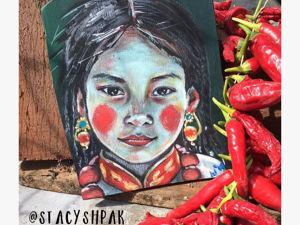 Всего 1500 р за портрет тибетской девочки!!!. Ярмарка Мастеров - ручная работа, handmade.